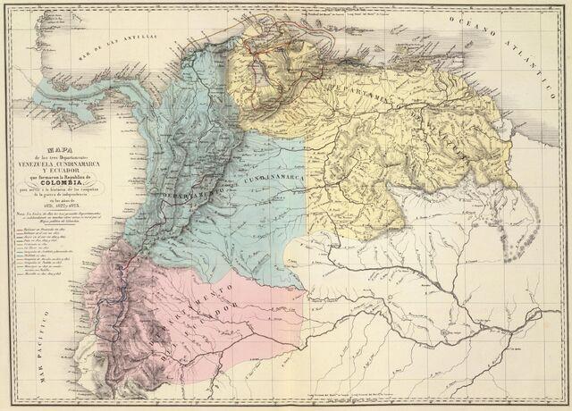 File:Mapa de Venezuela, N. Granada y Quito, 1821.jpg