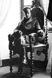 Douglas MacArthur, Army photo portrait seated, France 1918