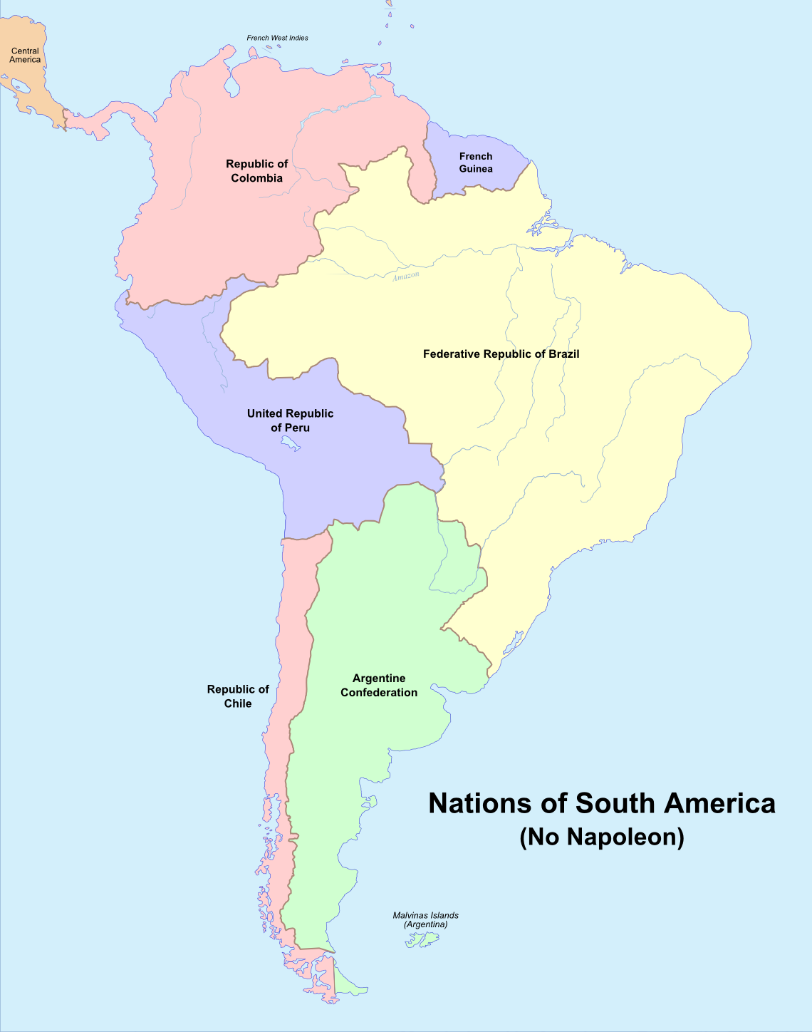 Image Map Of South America No Napoleonpng Alternative - South america map