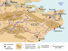 Kingdom of Kent Map