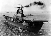 USS Hornet after completion, 1941