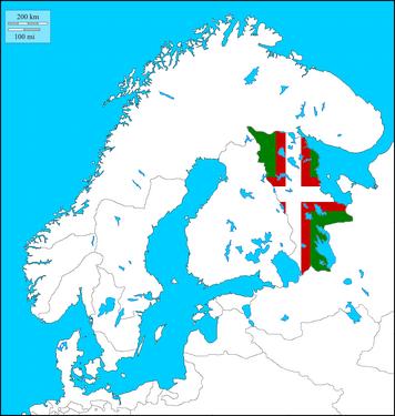 Karelia w. Flag (The Kalmar Union)
