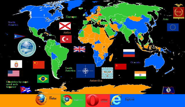 File:Countries by most used web browser's greek version.png
