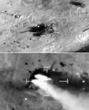 Destroyed Libyan tanks in Misrata