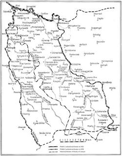 Map of Zaolzie