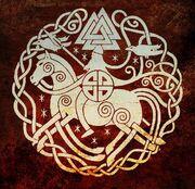 Valhalla Warrior wiith Valknut