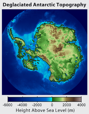 Antarctica without ice sheet