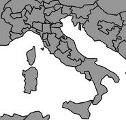 Map of the Italian Peninsula (1861 HF)