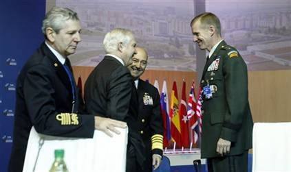 File:Gates and McChrystal at NATO MOD Meeting 2009.jpg