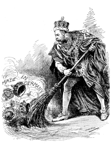 File:A Good Riddance - George V of the United Kingdom cartoon in Punch, 1917.png