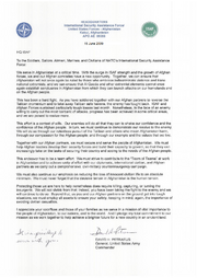 Letter from David Petraeus to U.S. and ISAF troops (SIADD)
