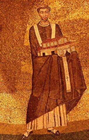 File:Onorio I - mosaico Santa Agnese fuori le mura.jpg