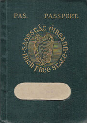 Irish Free State passport
