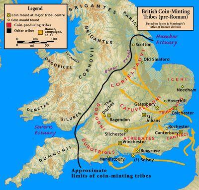 British coinage Roman invasion
