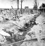 Trenches after the Battle of Machynlleth