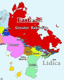 Map Eastland