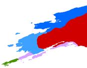 Etnic Map of Aleut-Eskimo Alaska, 1635