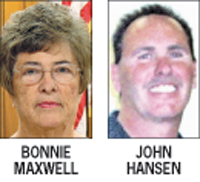 File:Current mayor Bonnie Maxwell and challenger John Hansen.jpg