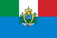 Flag of Italy and San Marino