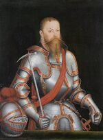 Lucas Cranach the Younger - Prince Elector Moritz of Saxony (1578) - Google Art Project