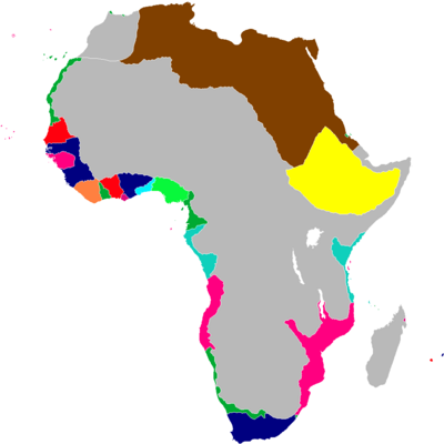 Scramble for Africa Map 1849