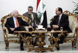 John McCain with Nouri al-Maliki