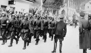 Anschluss 1938 - German troops marching into Austria