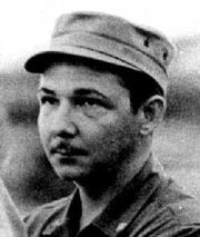 Raul Castro young