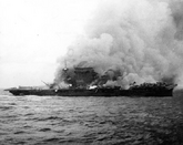 USS Lexington sinking, 1942