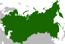 Location of the Soviet Union (Coloured)