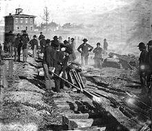 Sherman railroad destroy noborder crop