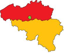 Map of Belgium (GNW)