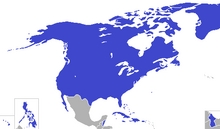 Location of the United States (King of America)