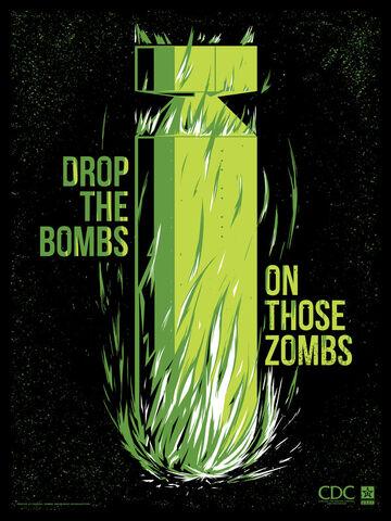 File:Zombie propaganda drop the bombs by ron guyatt-d5glaur.jpg
