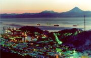 Petropavlovsk Kamchatsky at night