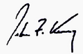 John Kerry Signature