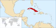 Location of Cuba OTL
