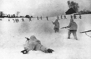 Battle russian soldiers