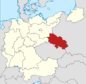 Locator map Silesia in Germany (IM)
