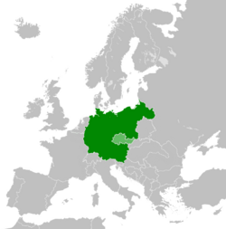Location in central Europe (Mitteleuropa)