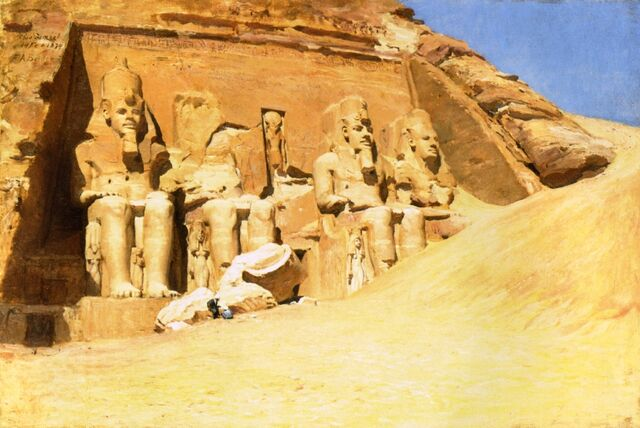 File:Abu-Simbel-XX-Frederick-Arthur-Bridgeman-xx-Private-collection.jpg