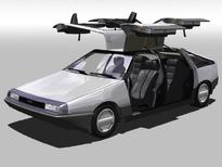 DeLorean S-1 series sedan interior (front view)