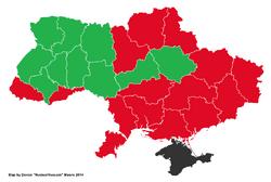 Map of 1991 Ukrainian Referendum (New Union)