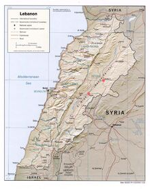 1983DD Lebanon Map