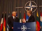 Colin Powell with Jaap de Hoop Scheffer