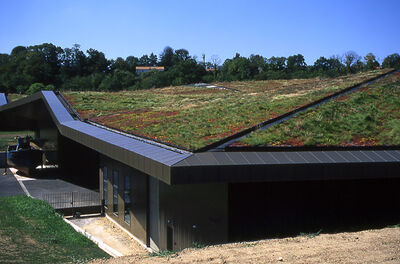 Green Roof at Vendée Historial, les Lucs