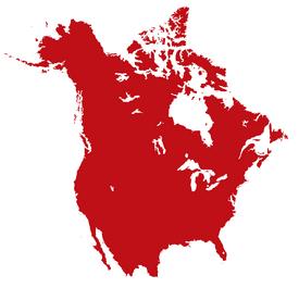 Map of British America