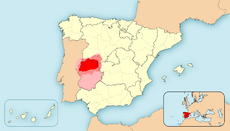 Map of Extremadura 83DD
