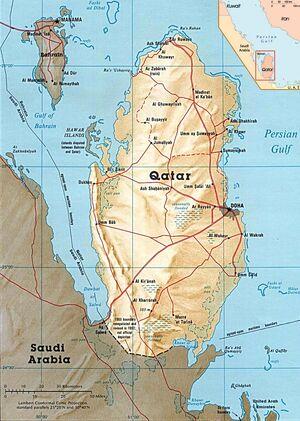 1983DD Qatar Map