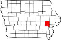 200px-Map of Iowa highlighting Johnson County svg